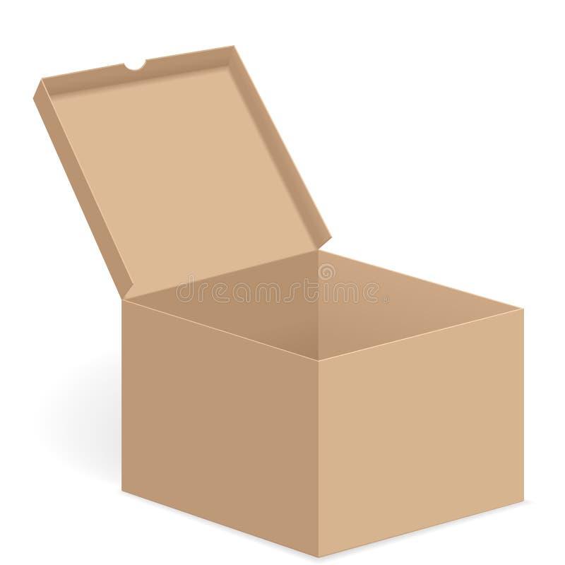 Ouvrez la boîte illustration libre de droits