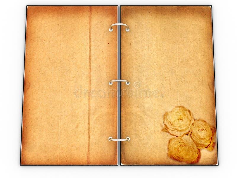 Ouvrez la carte - agenda fait de cuir â4 illustration libre de droits