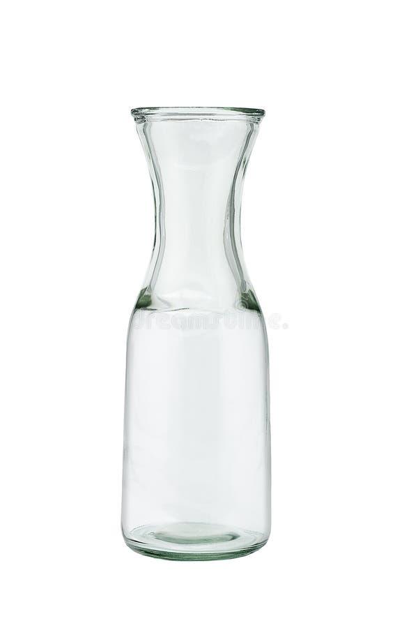 Ouvrez la cruche en verre vide images stock