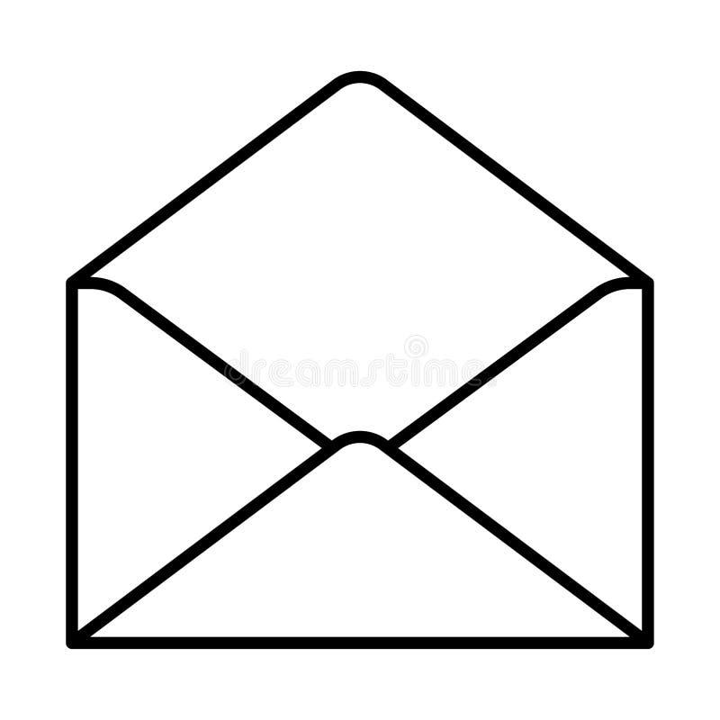 Download Ouvrez La Découpe De Noir D'icône D'enveloppe Sur Le Fond Blanc De L'illustration Illustration Stock - Illustration du information, affaires: 87708944
