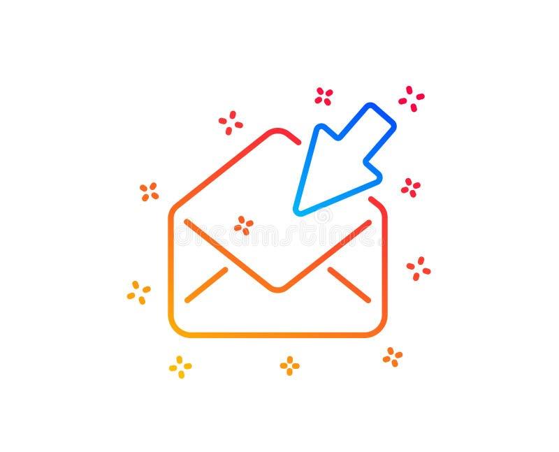 Ouvrez la ligne ic?ne de courrier Signe de correspondance de message de vue Vecteur illustration de vecteur