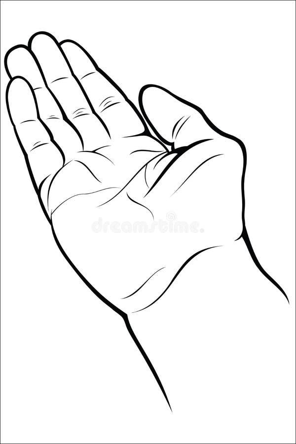 Ouvrez la main vide illustration de vecteur