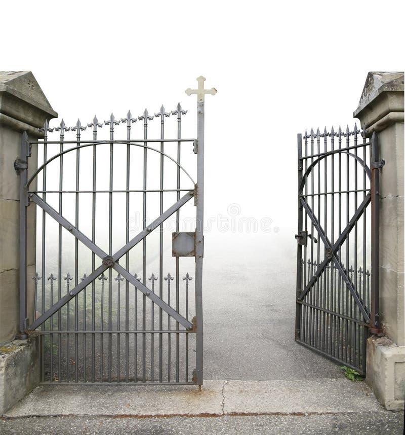 Ouvrez la porte en fer forgé photographie stock