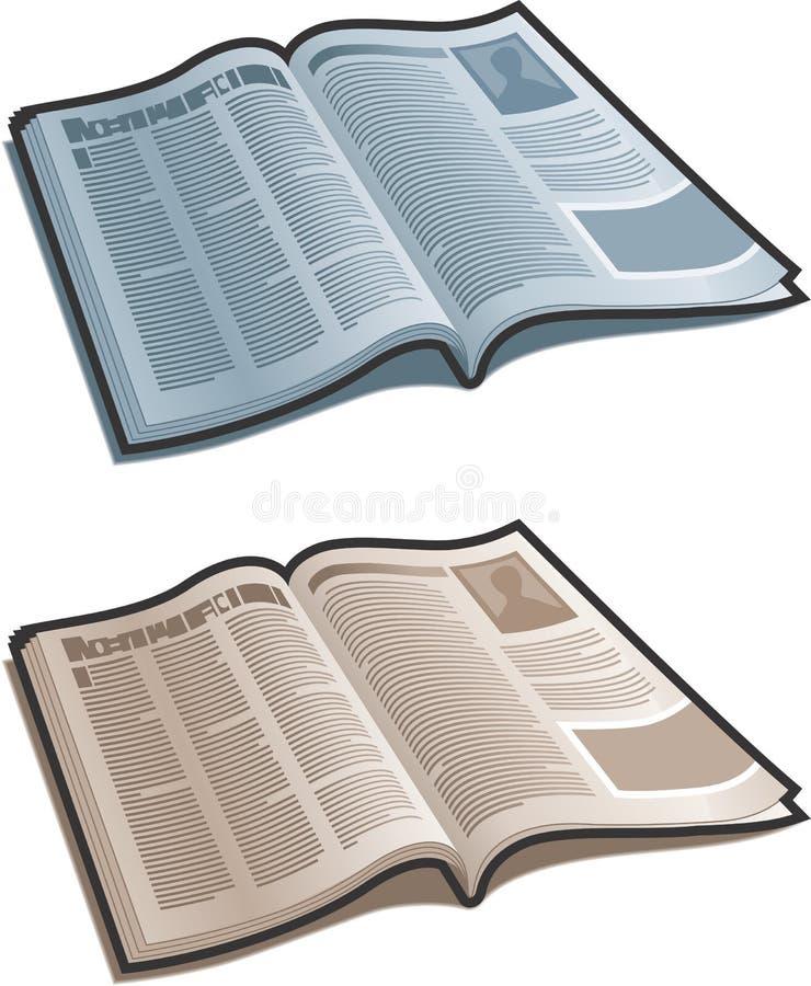 Ouvrez la revue illustration libre de droits