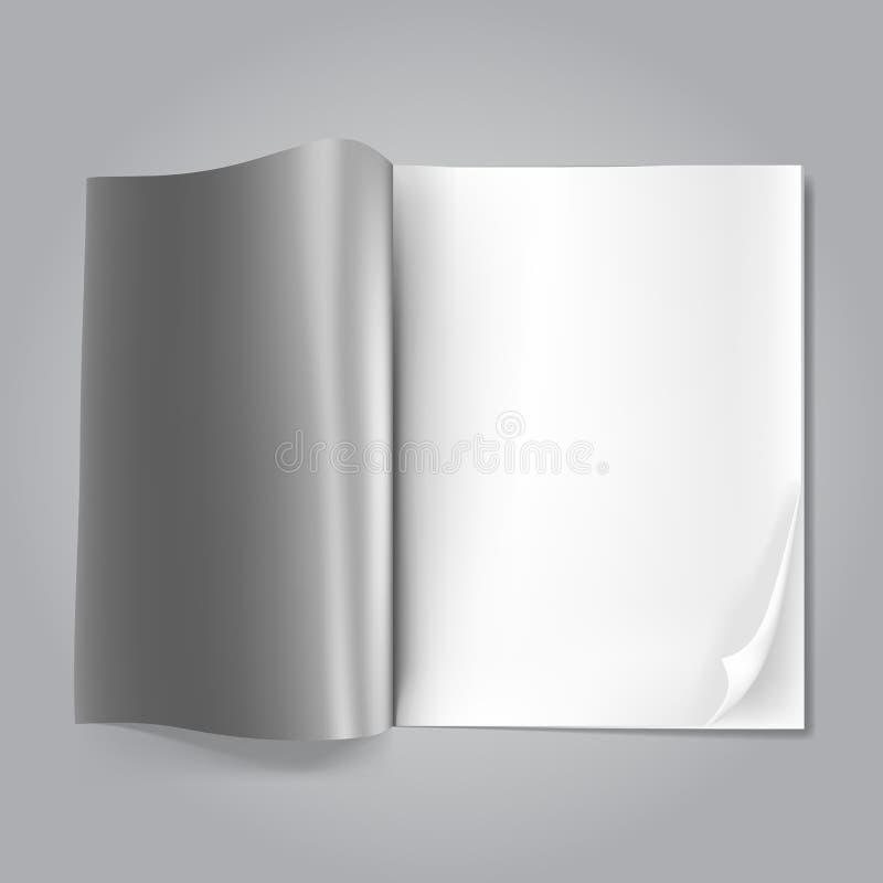 Ouvrez la revue blanc illustration libre de droits