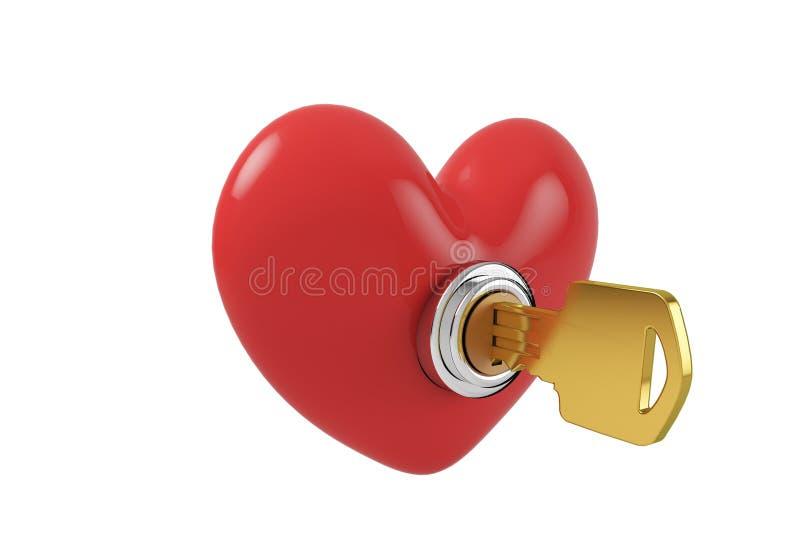 Download Ouvrez la serrure de coeur illustration stock. Illustration du passion - 87705116