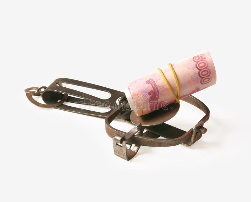 Ouvrez la trappe avec des argent-amorces photo libre de droits