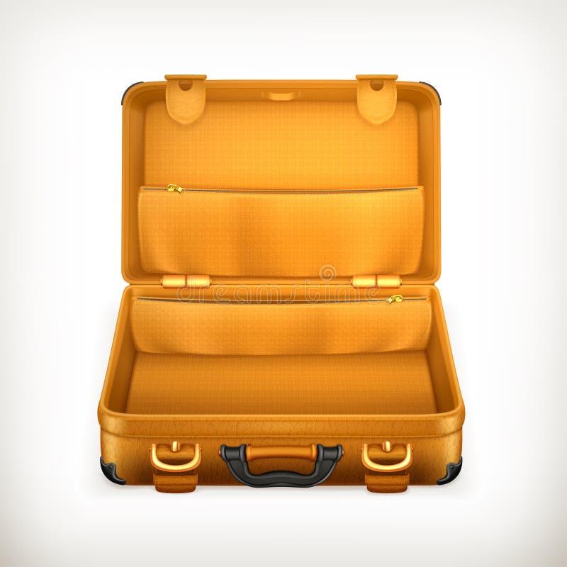 Ouvrez la valise illustration stock