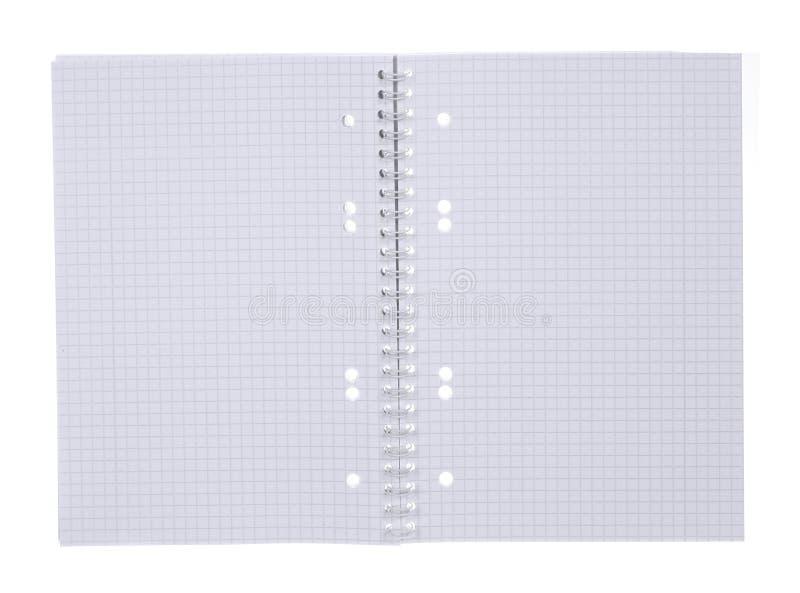 Ouvrez le bloc-notes spiralé photo libre de droits