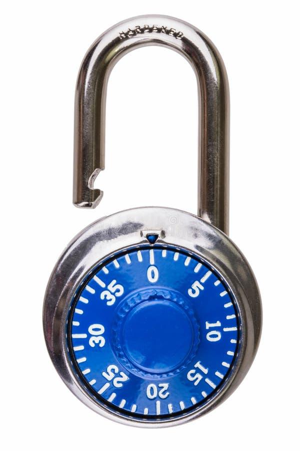 Ouvrez le blocage de combinaison avec le cadran bleu photo libre de droits