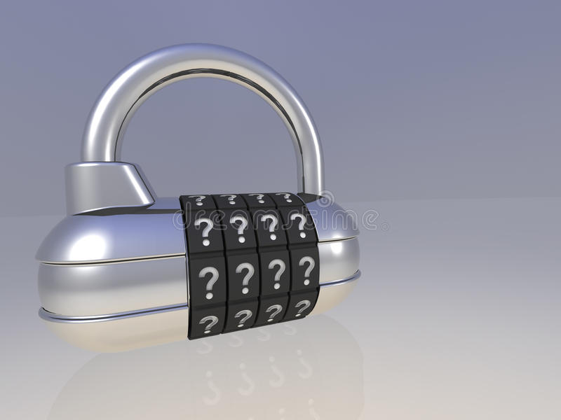 Ouvrez le blocage de garniture illustration libre de droits