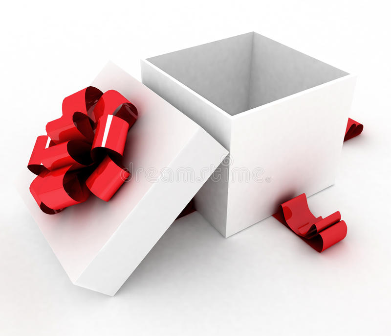 Ouvrez le boîte-cadeau illustration de vecteur