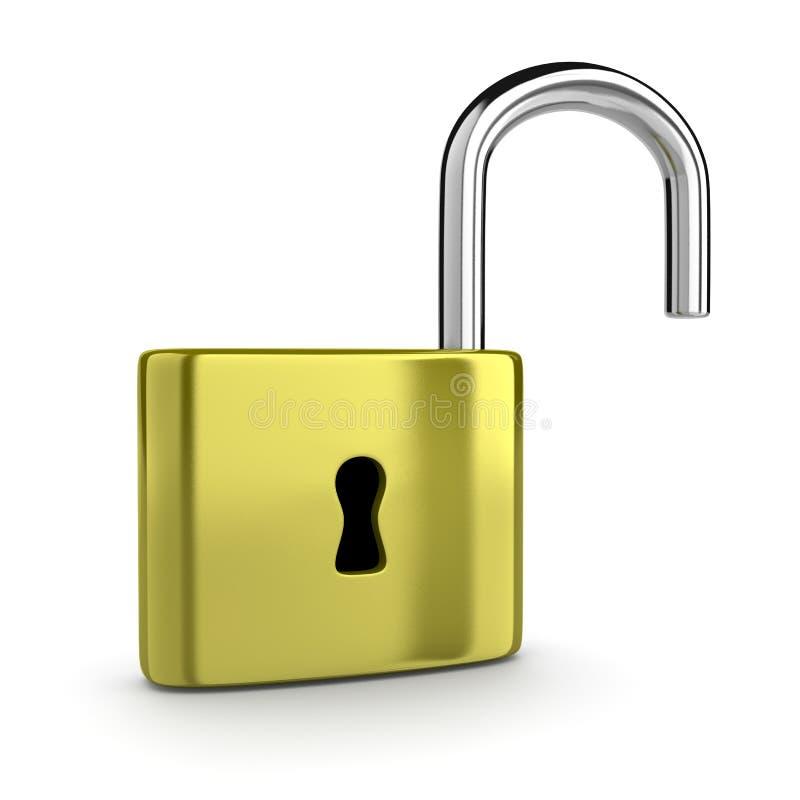 Ouvrez le cadenas illustration libre de droits