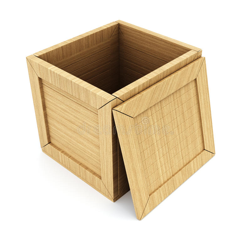 Ouvrez le cadre en bois vide illustration stock