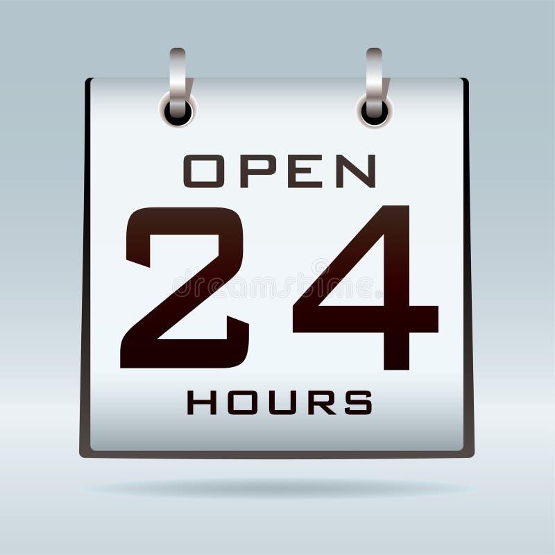 Ouvrez Le Calendrier 24hr Photo libre de droits