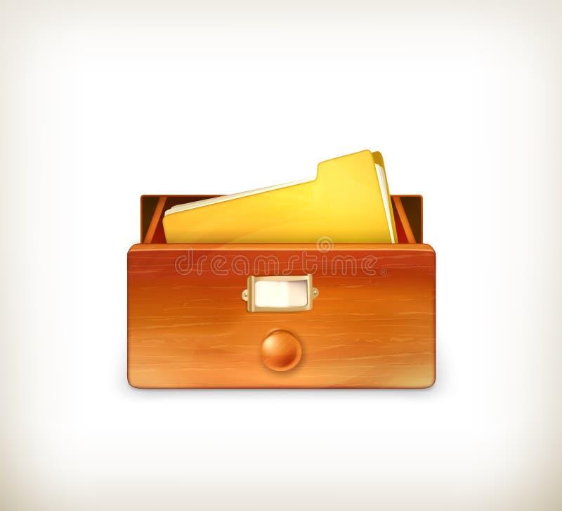 Ouvrez le catalogue sur fiches illustration libre de droits
