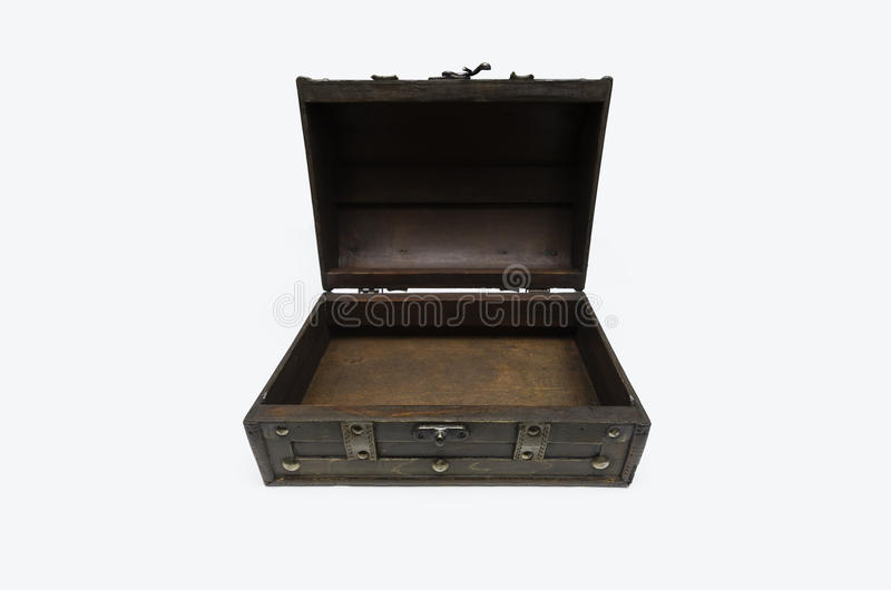 Ouvrez le coffre en bois photos libres de droits
