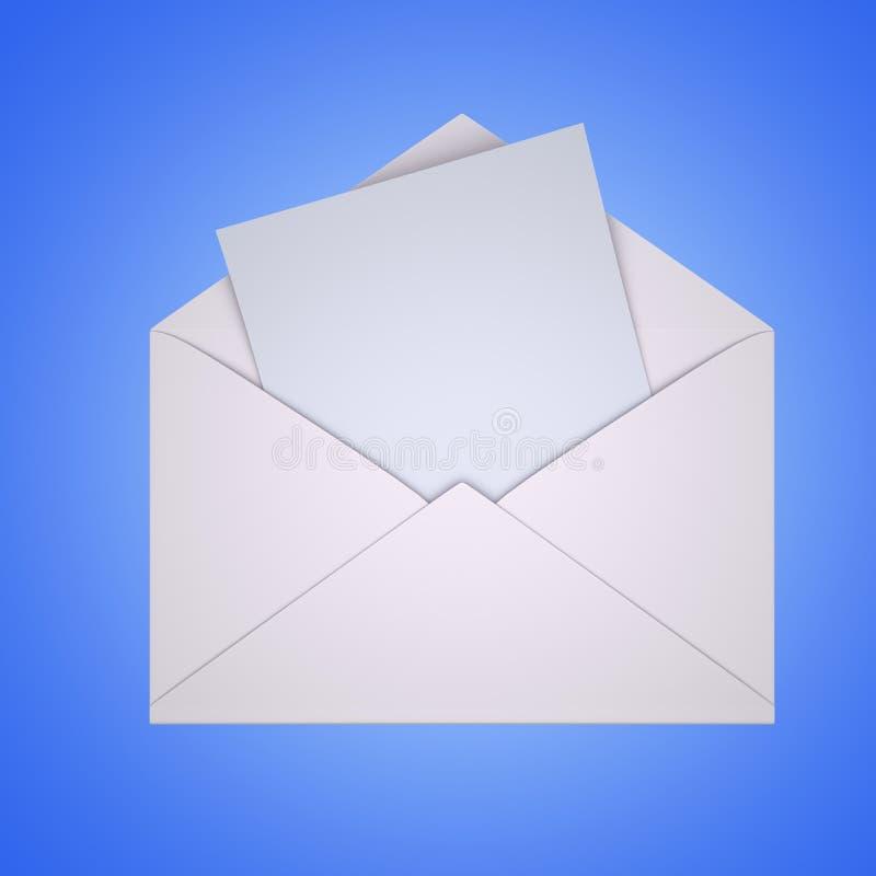 Ouvrez le courrier avec le blanc illustration libre de droits