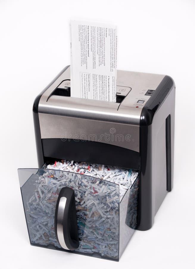 ouvrez le destructeur de papier photographie stock libre de droits