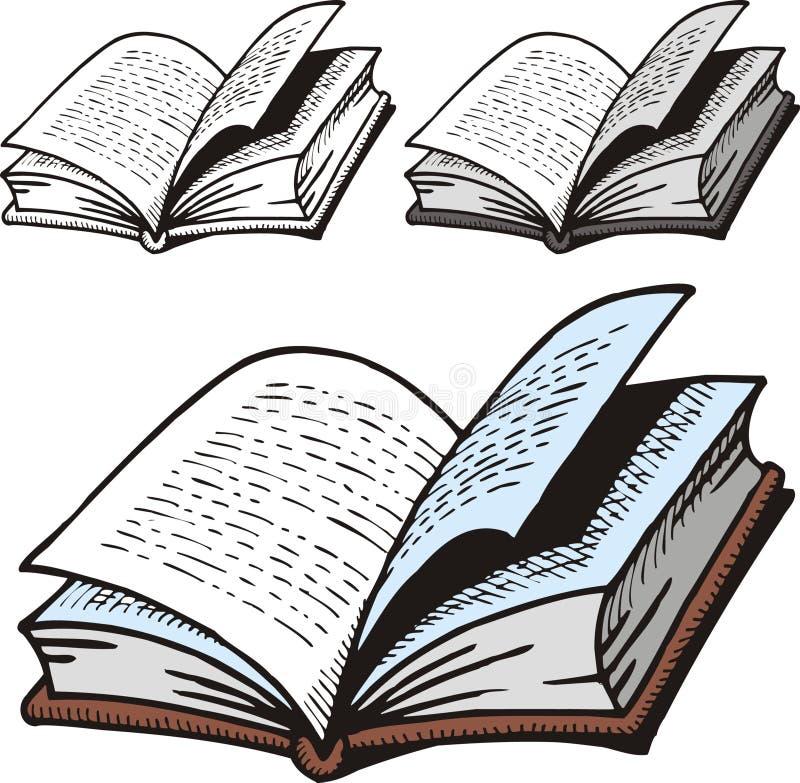 Ouvrez le dictionnaire illustration de vecteur