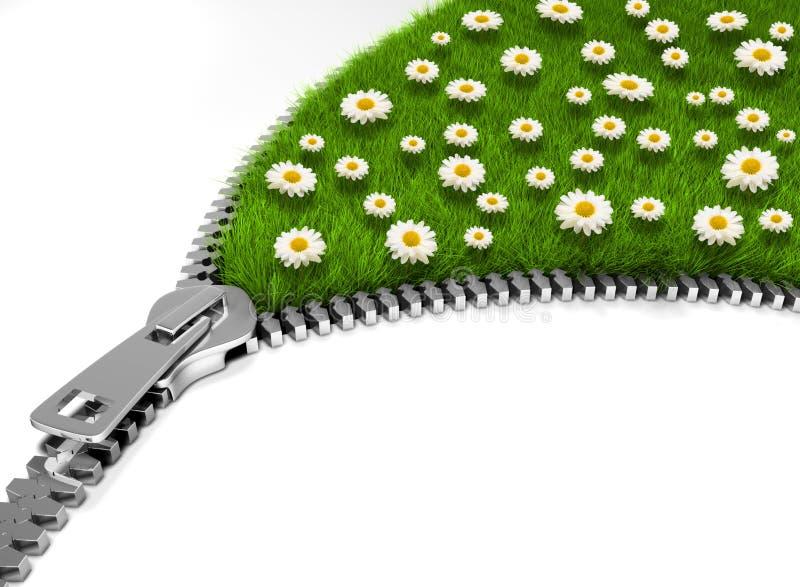 Ouvrez le gisement de fleur illustration de vecteur