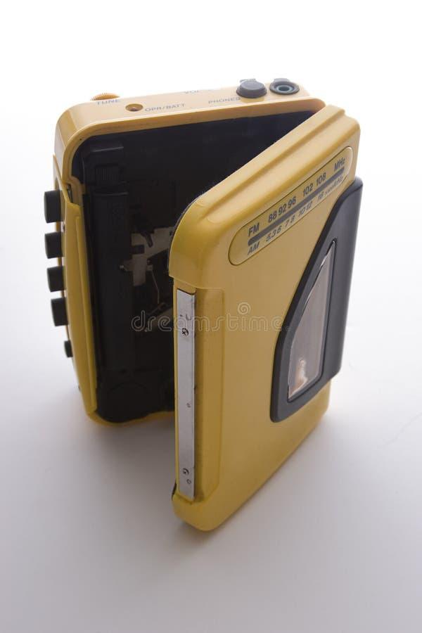 Ouvrez le lecteur de cassettes image stock