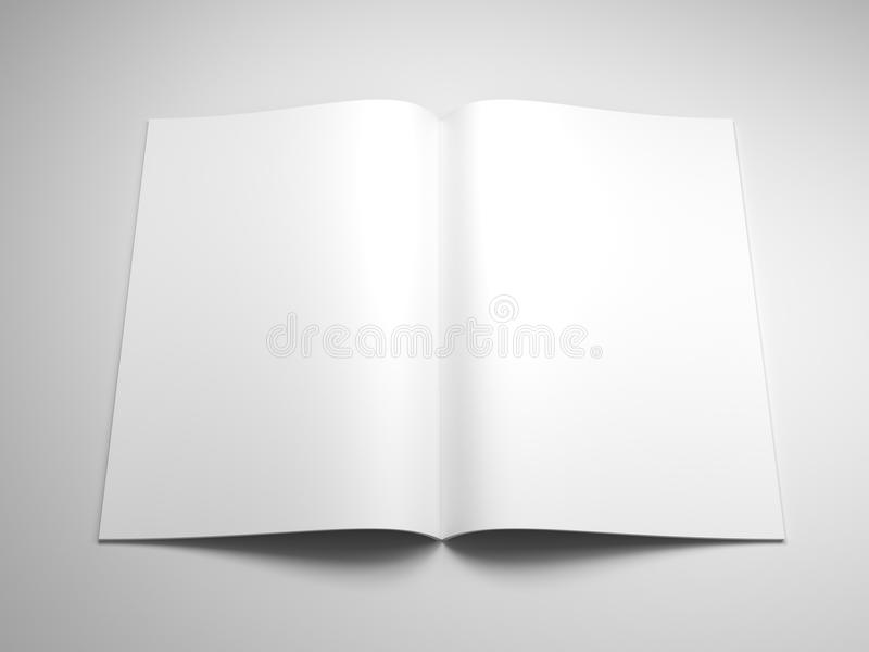 Ouvrez le livre avec les pages blanc illustration stock