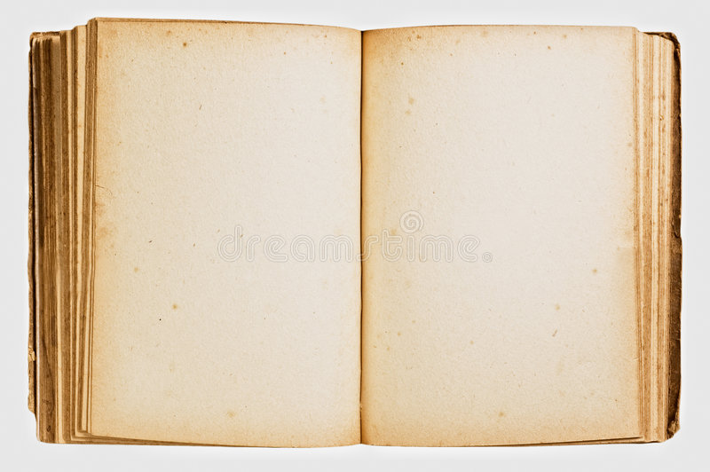 Ouvrez le livre de cru d'isolement photographie stock libre de droits