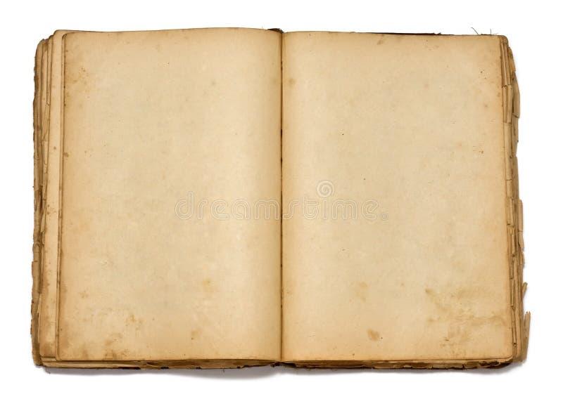 Ouvrez le livre de cru sur le fond blanc image stock