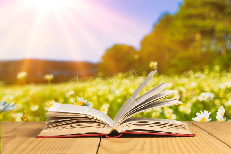 Ouvrez le livre sur le comprimé images stock