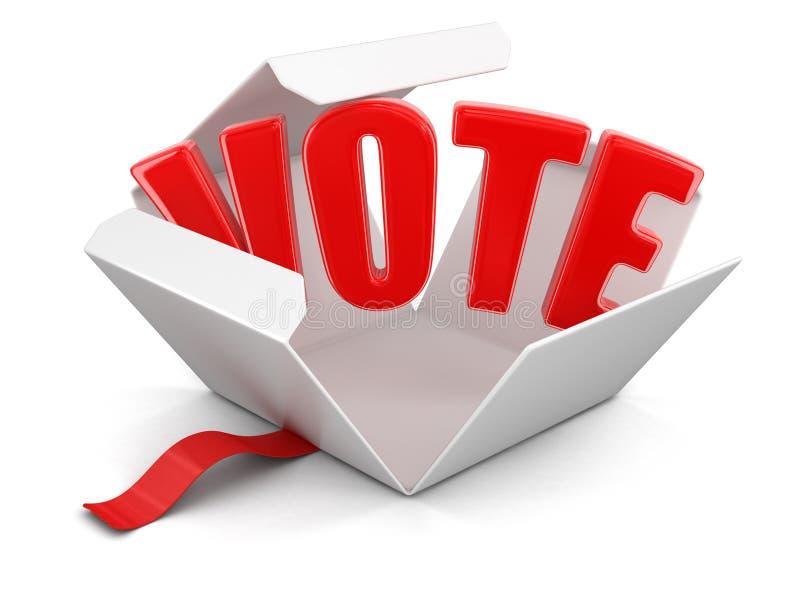Download Ouvrez Le Paquet Avec Le Vote Illustration Stock - Illustration du ouverture, produit: 77150857