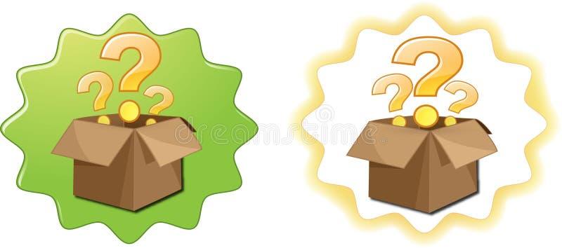 Ouvrez le point d'interrogation de boîte image stock