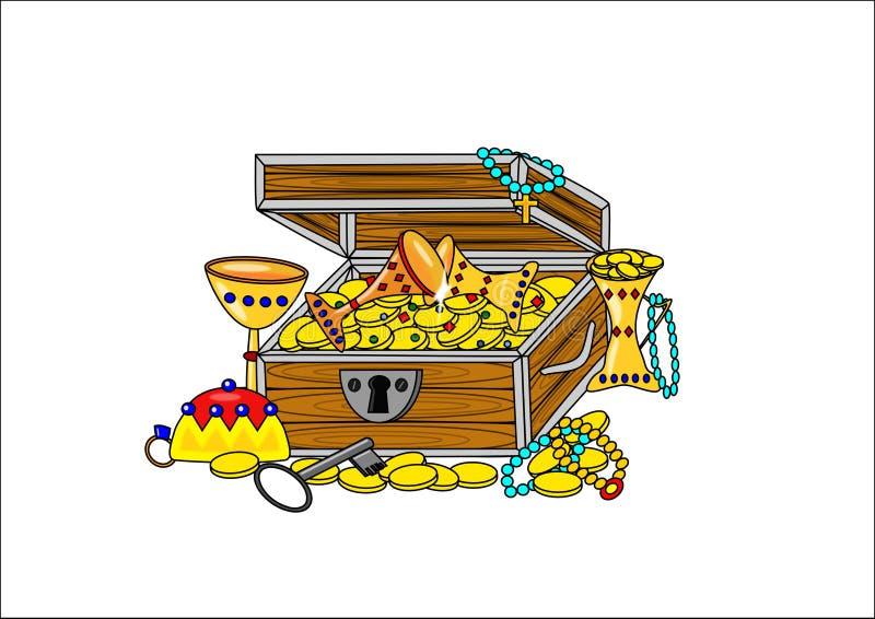 Ouvrez le trésor de pirate illustration stock