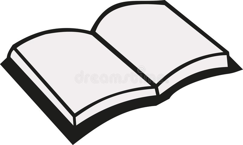 Ouvrez le vecteur de livre illustration de vecteur