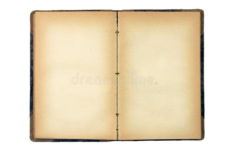 Ouvrez le vieux livre blanc images libres de droits