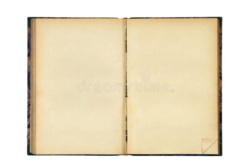 Ouvrez le vieux livre blanc photographie stock