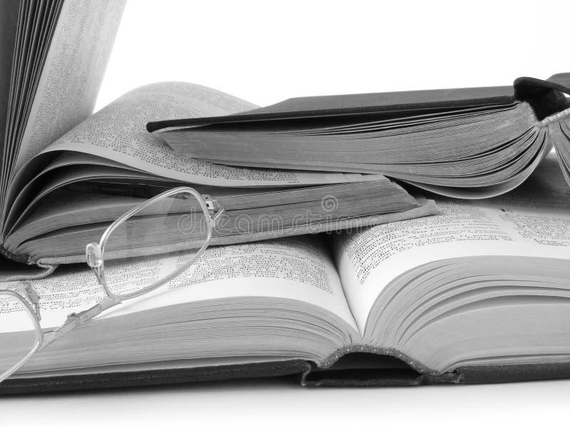 Ouvrez les livres et les glaces de relevé photo libre de droits