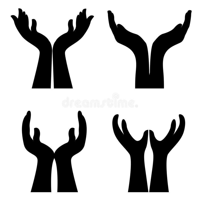 Ouvrez les mains illustration stock