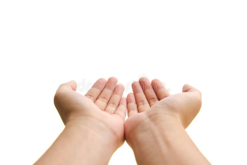 Ouvrez les mains photo libre de droits