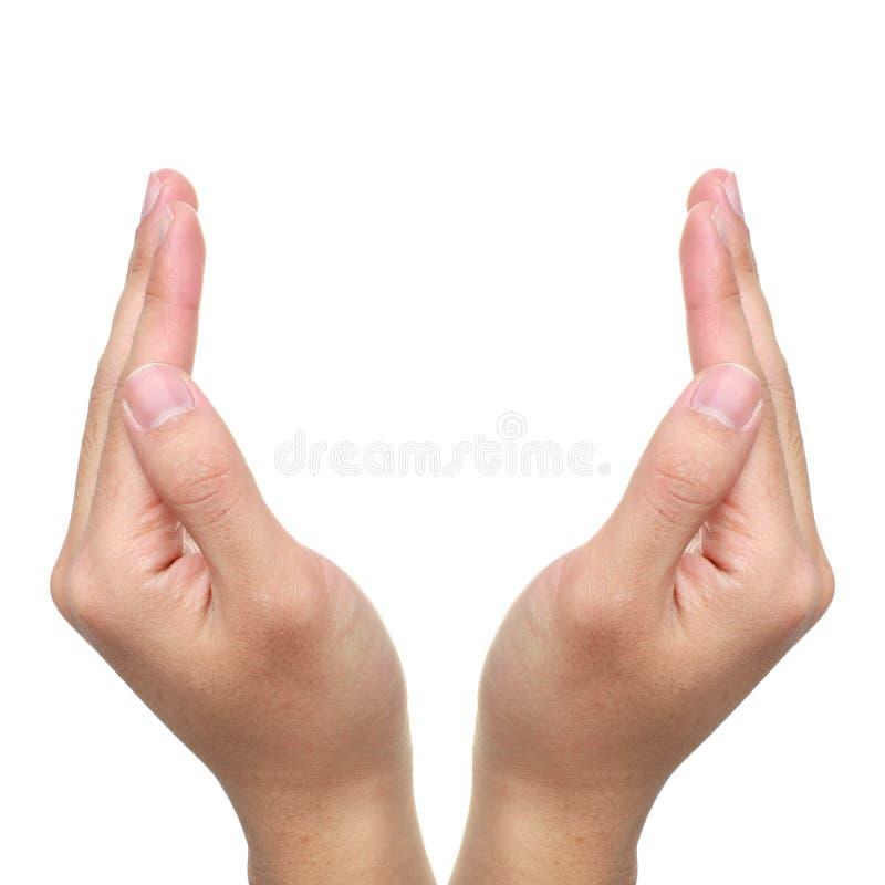 Ouvrez les mains images libres de droits
