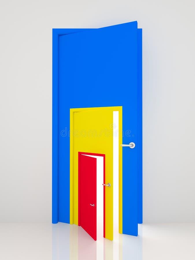 Ouvrez les trappes de couleur. illustration libre de droits