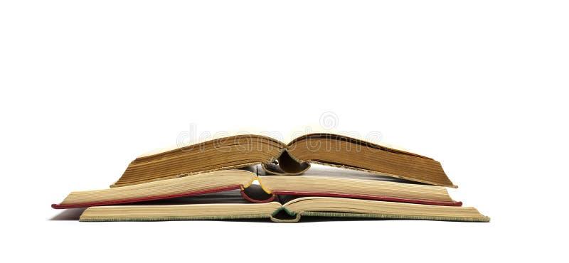 Ouvrez les vieux livres photos stock