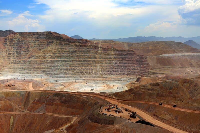 Ouvrez Pit Mine, Morenci, Arizona photos libres de droits