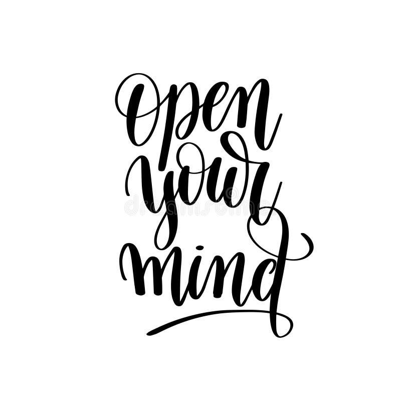 Ouvrez votre PO de motivation d'esprit et inspiré noir et blanc illustration libre de droits