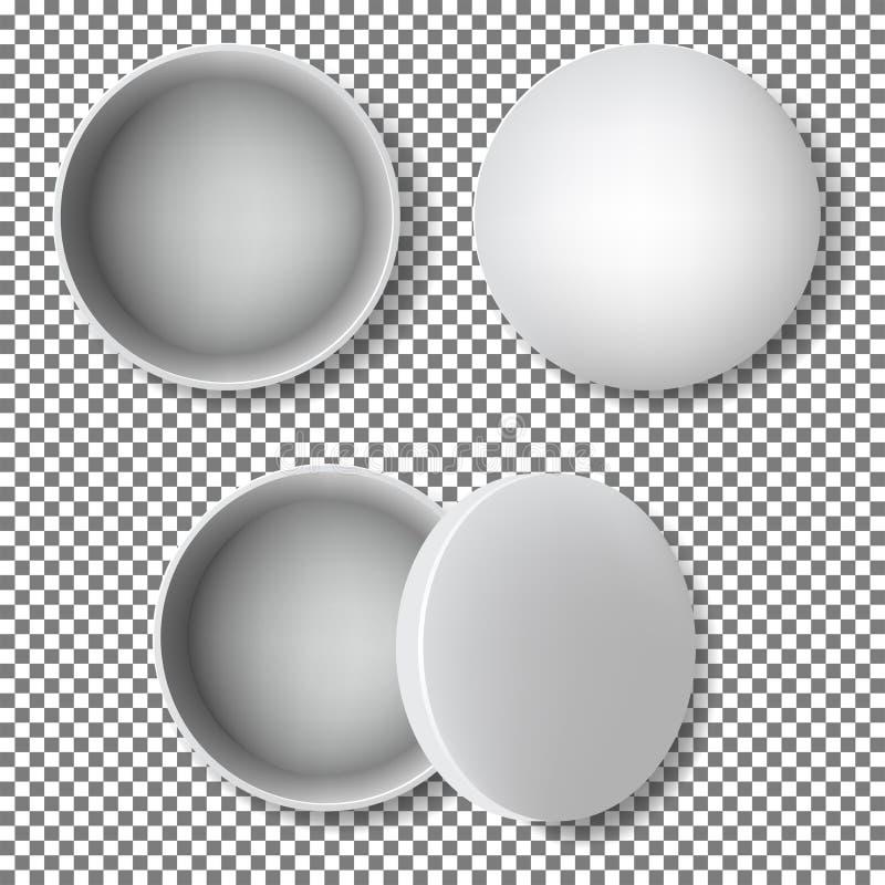Ouvrez-vous autour de la boîte en métal illustration de vecteur