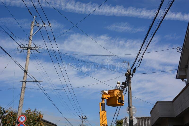 Download Ouvrier électrique photo stock éditorial. Image du réparation - 87701173