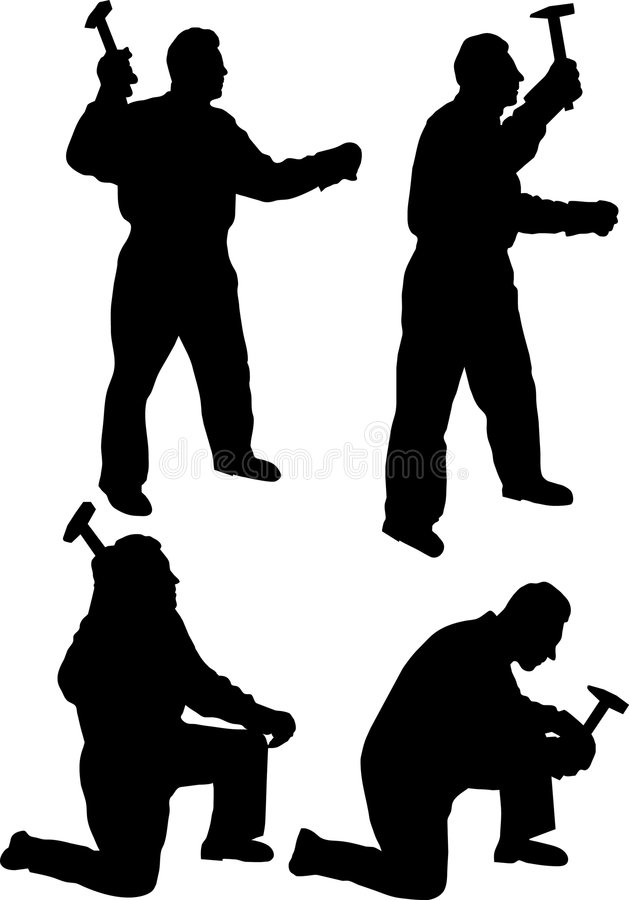 Ouvrier illustration libre de droits