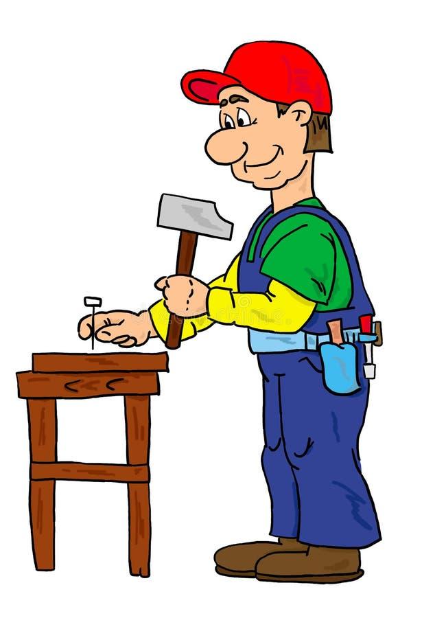 Download Ouvrier illustration stock. Illustration du ouvrier, bureau - 90023