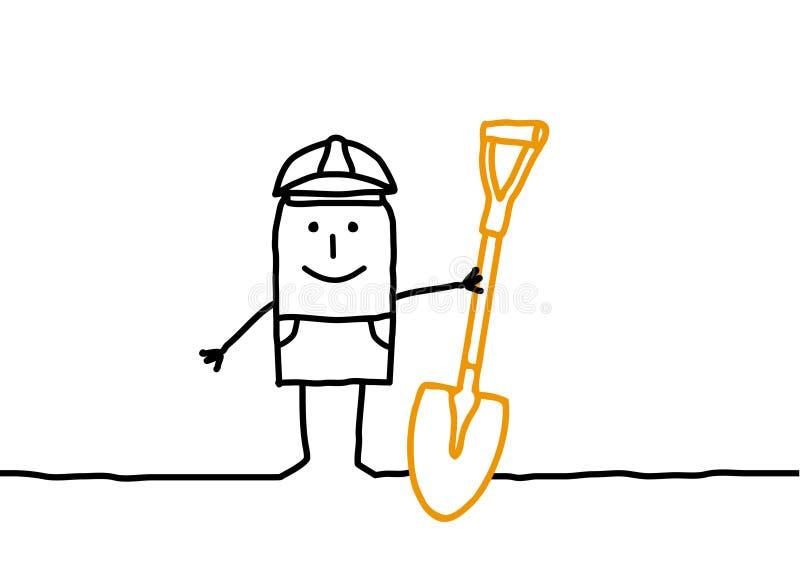 Ouvrier illustration stock