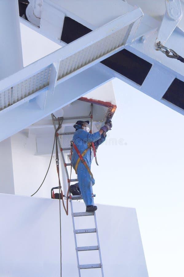Ouvrier avec le PPE photos stock